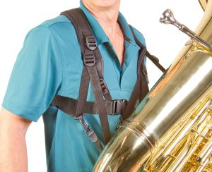 The Pad-It Tuba Harness supports and stabilizes tubas without restricting movement