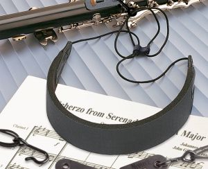 C.E.O. Comfort Strap™ fits Clarinet, English horn and Oboe and provides thumb relief